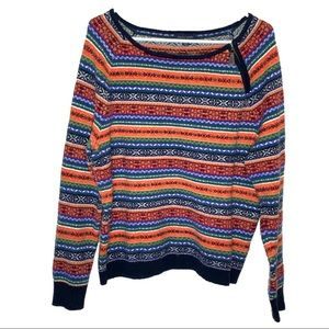 TOMMY HILFIGER TRIBAL KNIT CREW NECK SWEATER